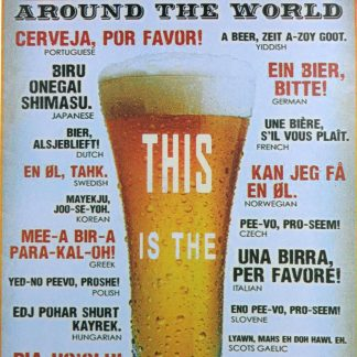 Beer Around the World tin sign fine art posters metalsign17-5 Beer Wine Liquor around