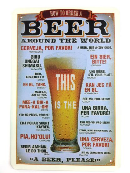 Beer Around the World tin sign fine art posters metalsign17-5 Beer Wine Liquor around