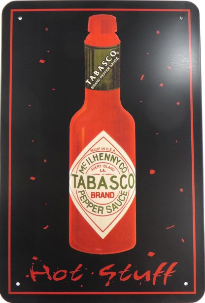 Tabasco Pepper Sauce Hot Stuff tin sign  gifts metalsign18-1 Metal Sign collectible decor