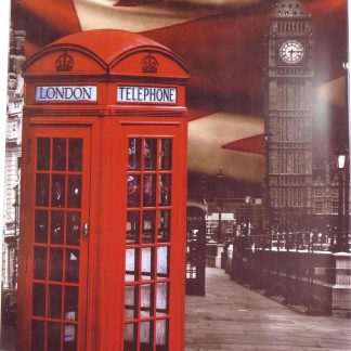 British UK phone box tin sign residential  metalsign18-3 Metal Sign box