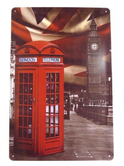 British UK phone box tin sign residential  metalsign18-3 Metal Sign box
