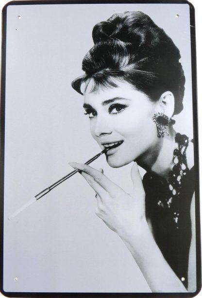 Audrey Hepburn tin sign discount  metalsign18-6 Metal Sign Audrey Hepburn