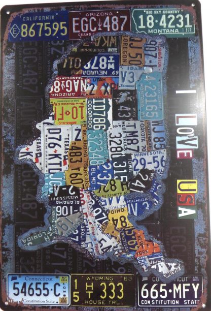 American map Country Car Plates tin sign wall hangings  living room metalsign19-3 Metal Sign American