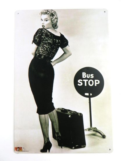 Marilyn Monroe bus stop tin sign bathroom wall hangings metalsign20-1 Metal Sign bathroom