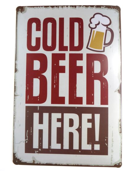 COLD BEER HERE tin sign bedroom bar club shop design metalsign20-3 Beer Wine Liquor bar