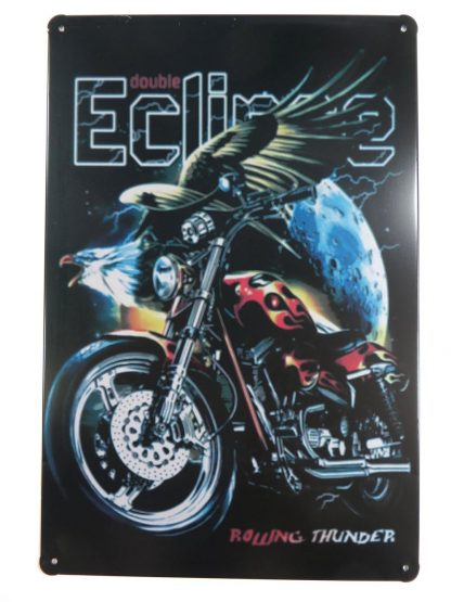 Double Eclipse Rolling Thunder tin sign office bar  metalsign21-3 Metal Sign bar