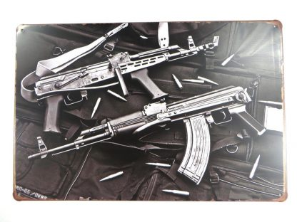 AK47 gun weapon tin sign  kitchen metalsign21-6 Metal Sign AK47