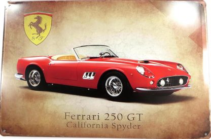 Ferrari 250 GT vintage tin sign room decoration items metalsign22-1 Metal Sign 250