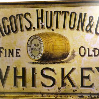 Bagots, Hutton & Co's Fine Old Whiskey tin sign dorm room   metalsign24-6 Metal Sign &
