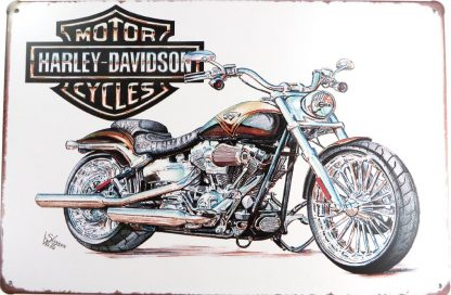 vintage Harley Davidson motorcycle bike tin sign   metalsign26-4 Gas Oil Automotive art reproductions