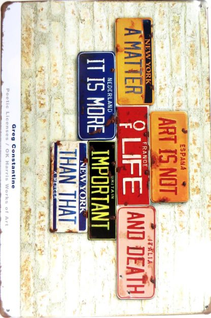 retro license plate tin sign cool art  metalsign26-5 Metal Sign art