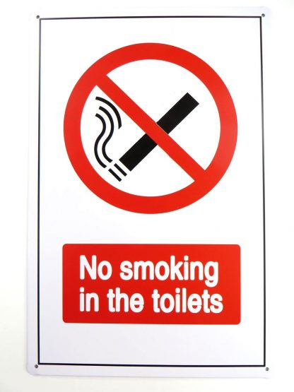 No Smoking in the Toilets tin sign modern art posters metalsign26-6 Gas Oil Automotive art