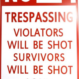NO TRESPASSING tin sign  posters metalsign27-1 Metal Sign garage art