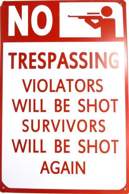 NO TRESPASSING tin sign  posters metalsign27-1 Metal Sign garage art