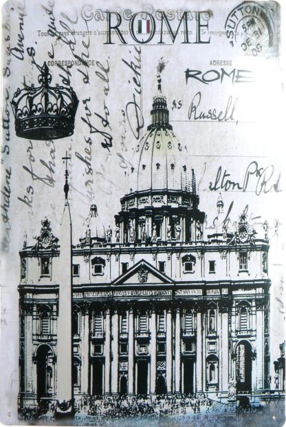 imperial crown ROME tin sign home d??cor metalsign27-2 Metal Sign crown