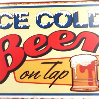 Ice Cold Beer tin sign decor  metalsign28-1 Beer Wine Liquor & decor