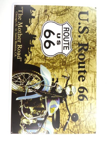 US Route 66 tin sign vintage  metalsign28-5 Gas Oil Automotive indoor bedroom design