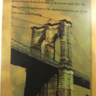 Brooklyn Bridge tin sign master bedroom s metalsign40-1 Metal Sign accent wall plaques