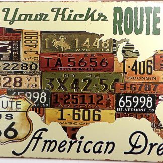 route 66 USA map tin sign home bar club shop metalsign41-1 Gas Oil Automotive bar