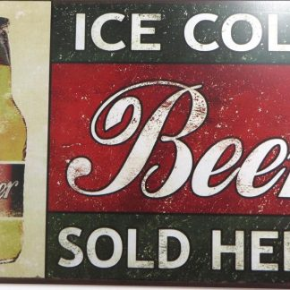 Ice Cold Beer tin sign ators catalog metalsign41-5 Beer Wine Liquor ators
