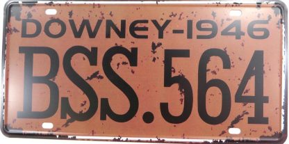 DOWNEY 1946 BSS.564 tin sign modern  metalsigns29-2 Metal Sign 1946