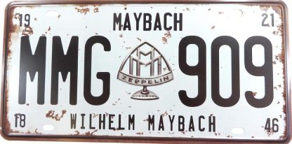 WILHELM MAYBACH MMG 909 tin sign decor office restaurant metalsigns30-2 Metal Sign 909