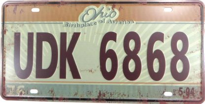 UDK 6868 OHIO tin sign western decor metalsigns31-1 Metal Sign 6868