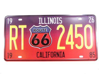 ILLINOIS CALINIA ROUTE 66 tin sign bar decor metalsigns31-3 Gas Oil Automotive & decor