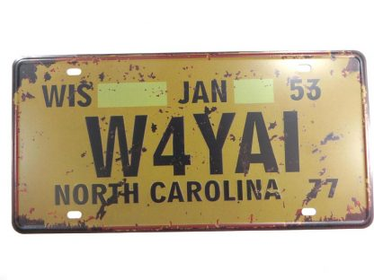 North Carolina W4YAI tin sign home accessories metalsigns31-4 Metal Sign accessories
