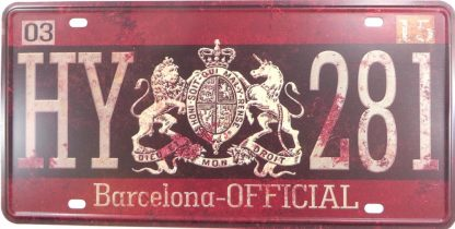 HY 281 Barcelona tin sign modern  metalsigns31-5 Metal Sign 281