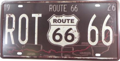 Route 66 tin sign cafe bar  metalsigns32-4 Gas Oil Automotive bar