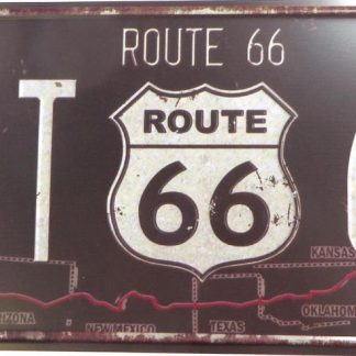 Route 66 tin sign southwestern decor metalsigns32-5 Gas Oil Automotive & decor