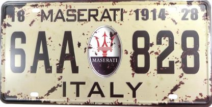 6AA 828 Maserati 1914 Italy tin sign accent wall bedroom metalsigns32-7 Metal Sign 1914