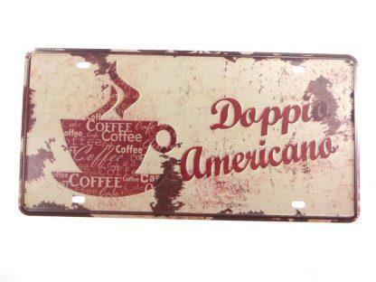 Doppio Americano Coffee tin sign home  metalsigns32-8 Metal Sign americano